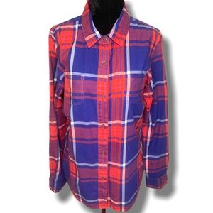 THE NORTH FACE PLAID FLANNEL LONG SLEEVE SHIRT